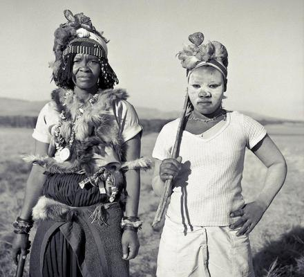 Sangoma and Assistant, Zululand, Natal, 1983